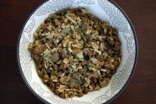 Moukentra (Greek Lentils and Rice)